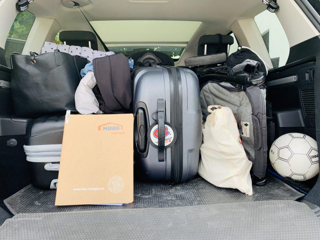 Kofferraum ist gepackt